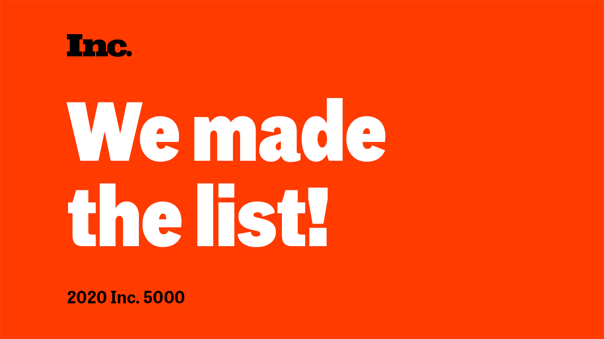 TIME Systems Ranks #1,313 on the 2020 Inc. 5000 List of the Fastest-Growing Private Companies in America